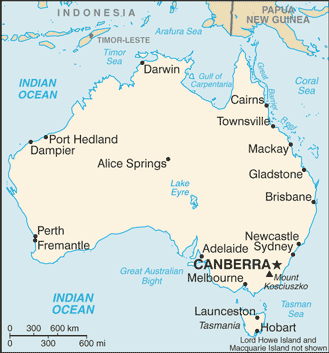 List Of Cities In Australia Wikipedia - Australia cities map