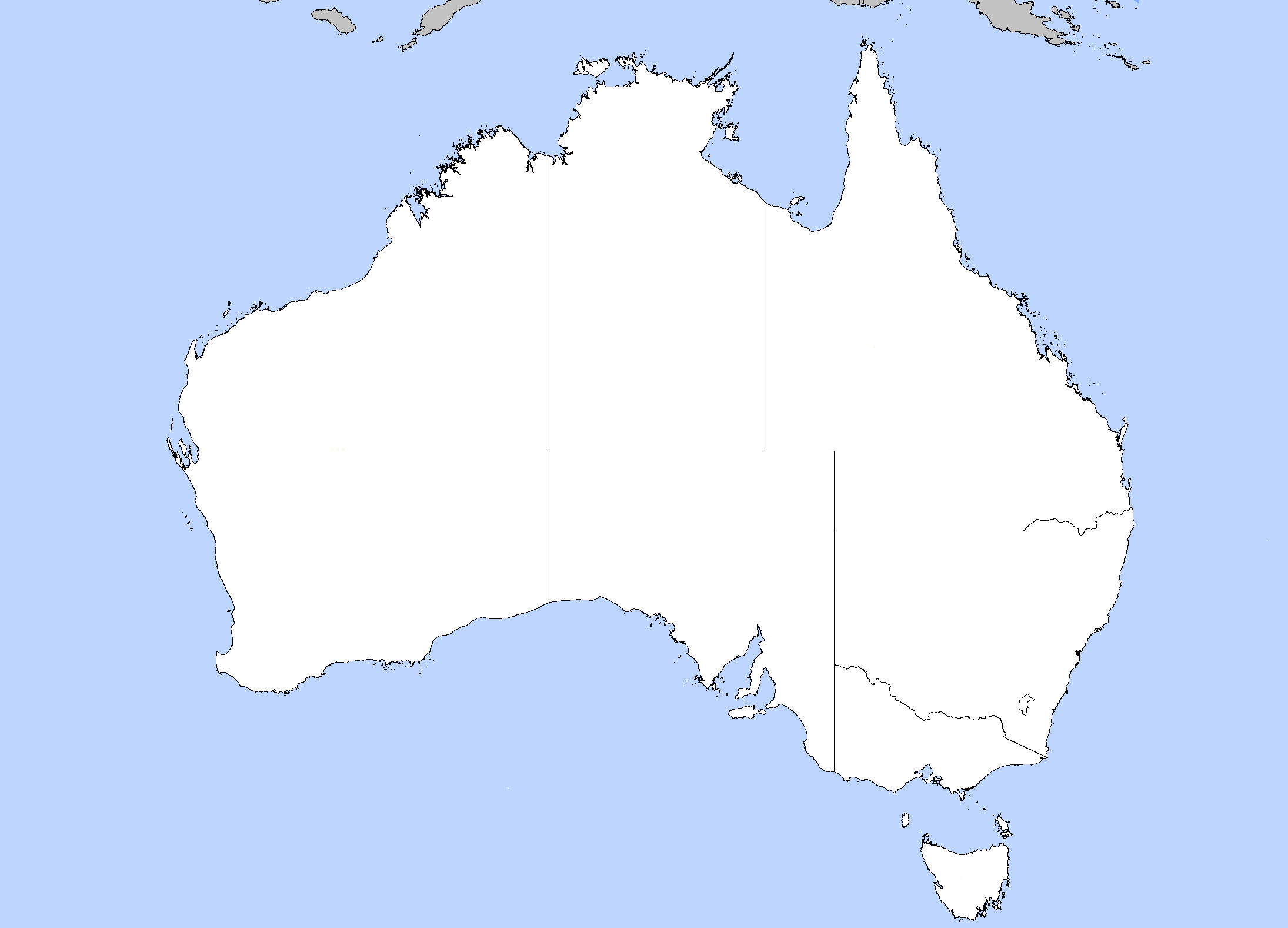 australia location mappng