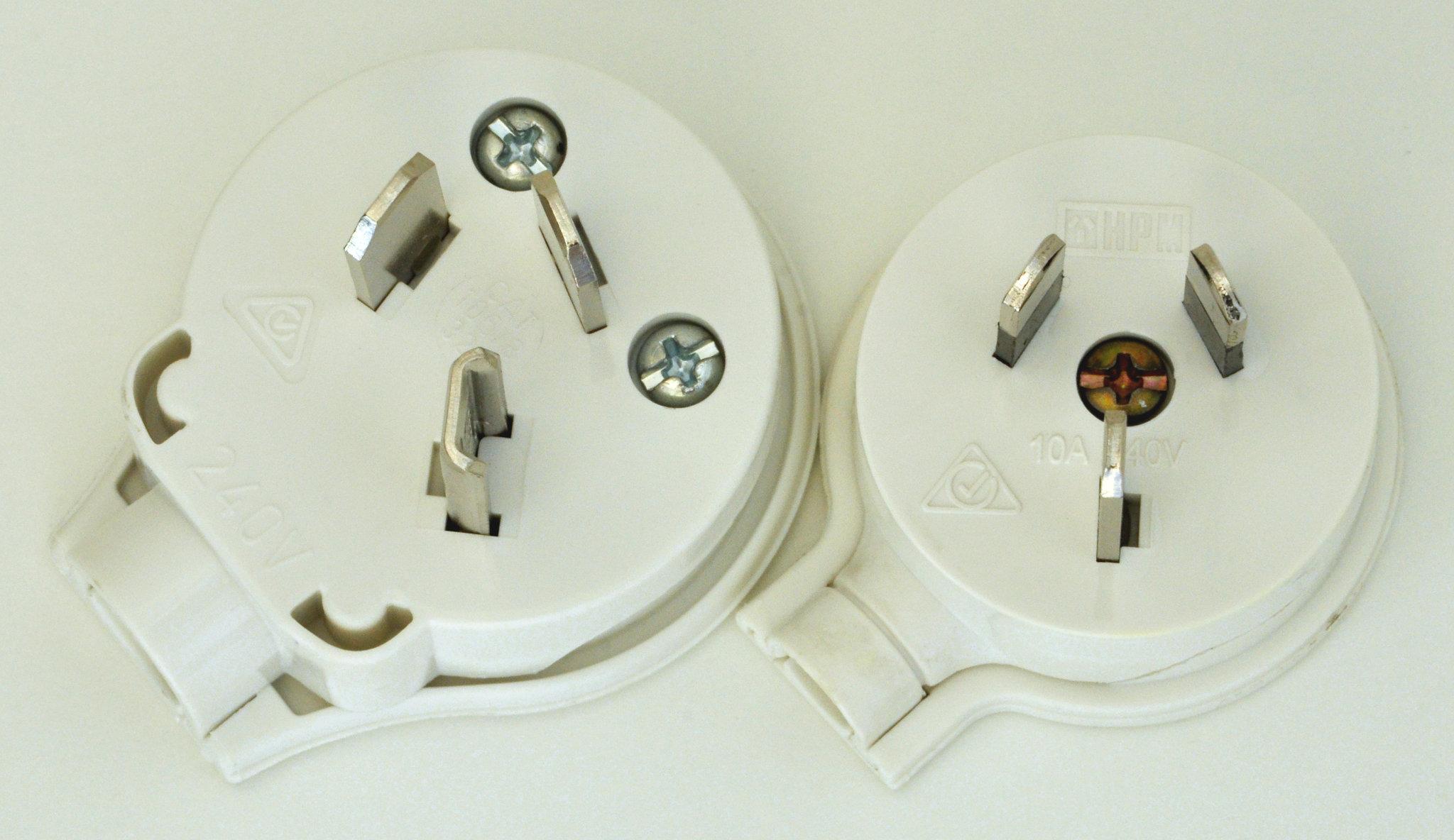 3 Pin AU Power Flat Male Plug Rewireable Electrical Industrial 240 Volt 10AMP