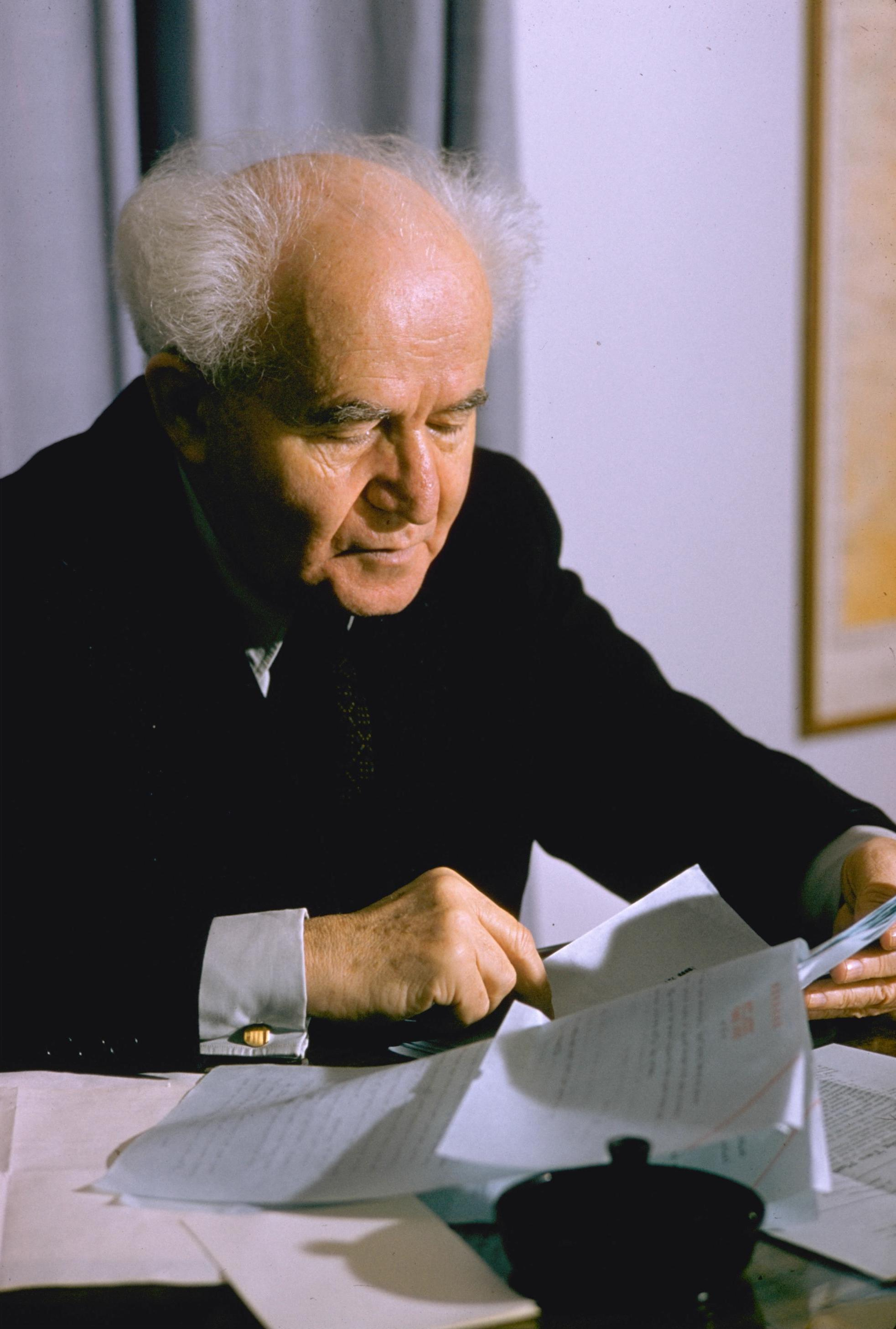 David Ben Gurion, Israel's Prime Minister and ...