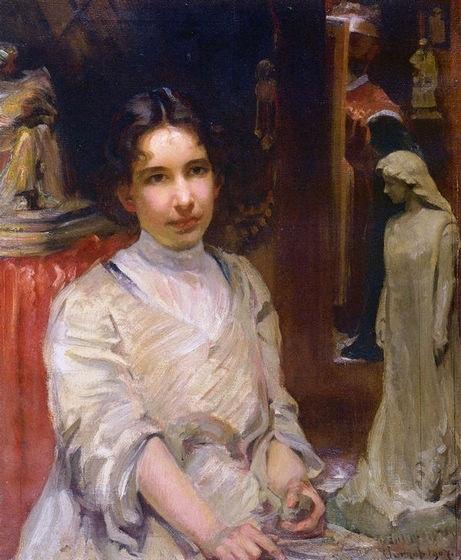 Portrait of Bessie Potter Vonnoh, by Robert Vonnoh, 1907