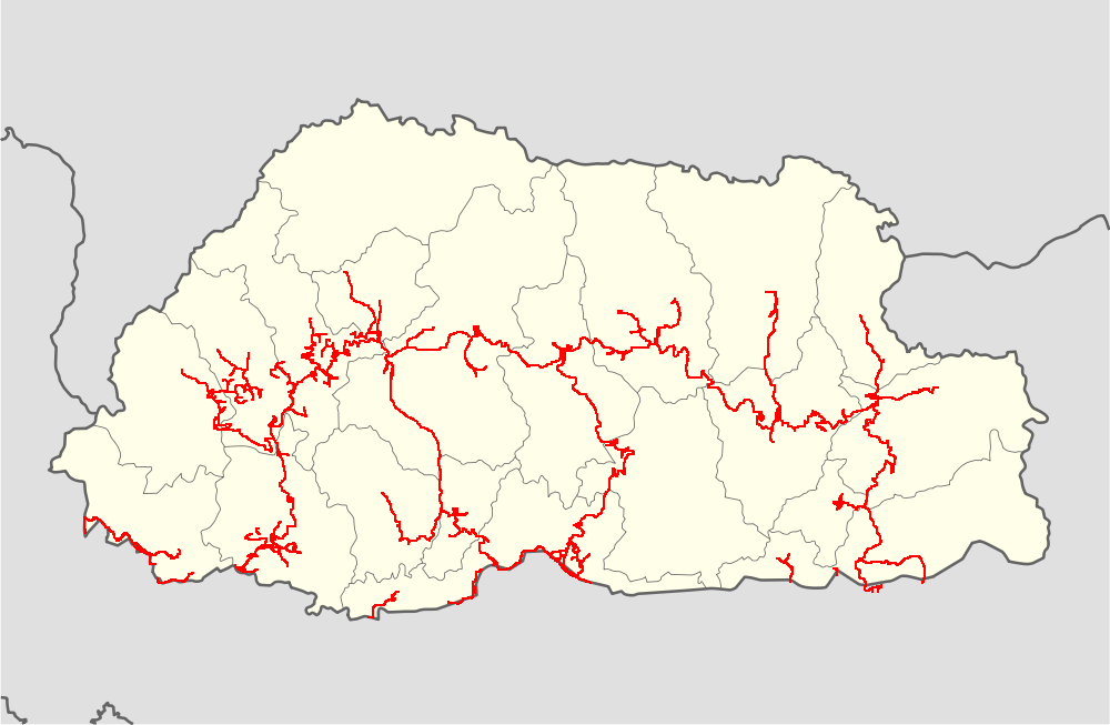 File:Bhutan highways blank location map.png - Wikimedia Commons