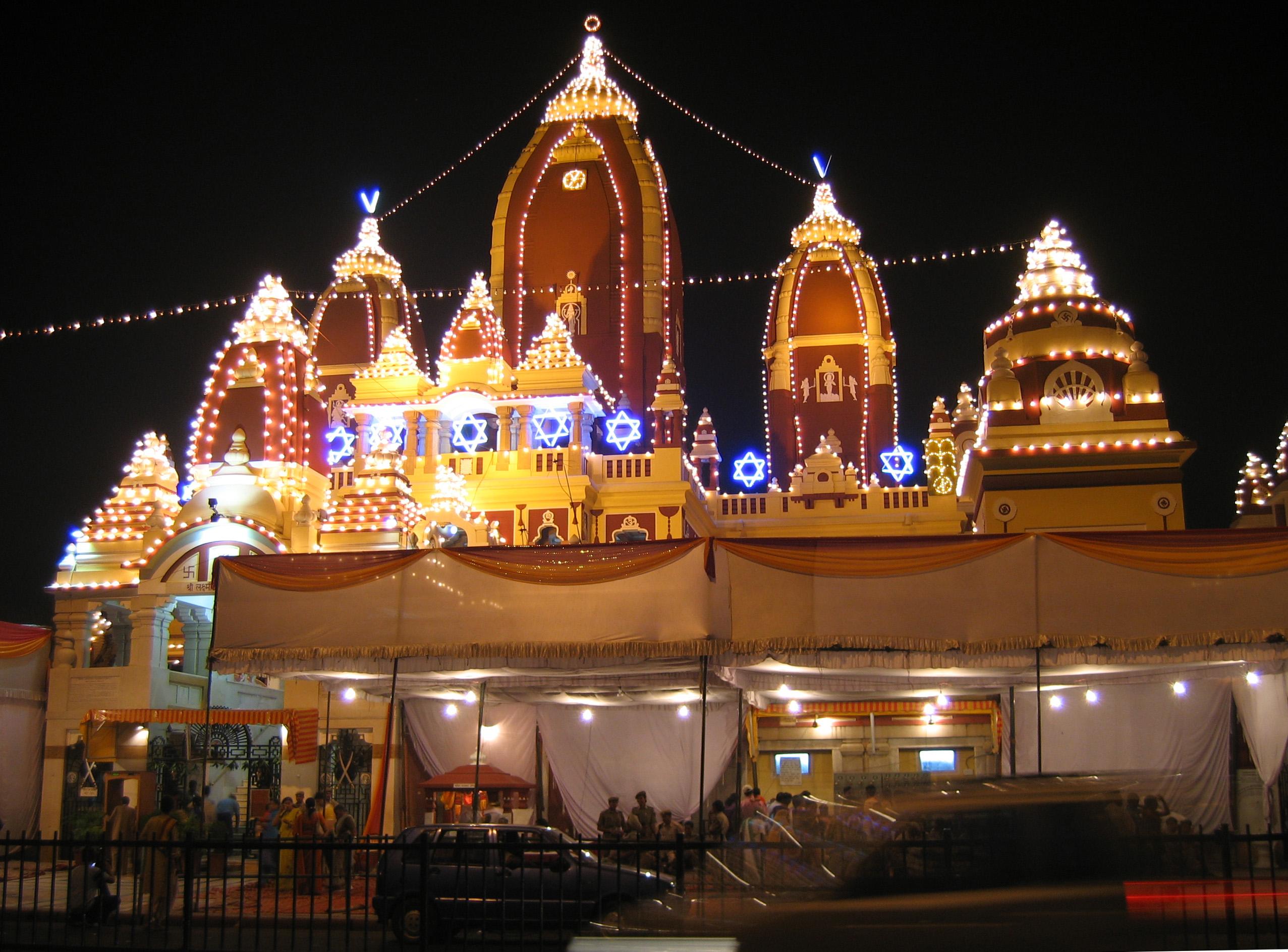 File Birla Mandir Delhi Views At Night3 Jpg Wikimedia