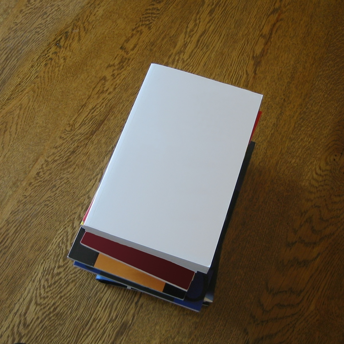 File blank books stacked on a for Table wikipedia