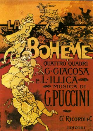 English: Poster for the 1896 production for Pu...