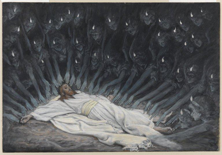 Poster vos Images Religieuses préférées!!! - Page 4 Brooklyn_Museum_-_Jesus_Ministered_to_by_Angels_%28J%C3%A9sus_assist%C3%A9_par_les_anges%29_-_James_Tissot_-_overall