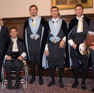 Four former captains regent: from left to right, Mirko Tomassoni, Alessandro Rossi, Alessandro Mancini, and Alberto Selva Captains Regent Tomassoni, Rossi, Mancini and Selva.jpg