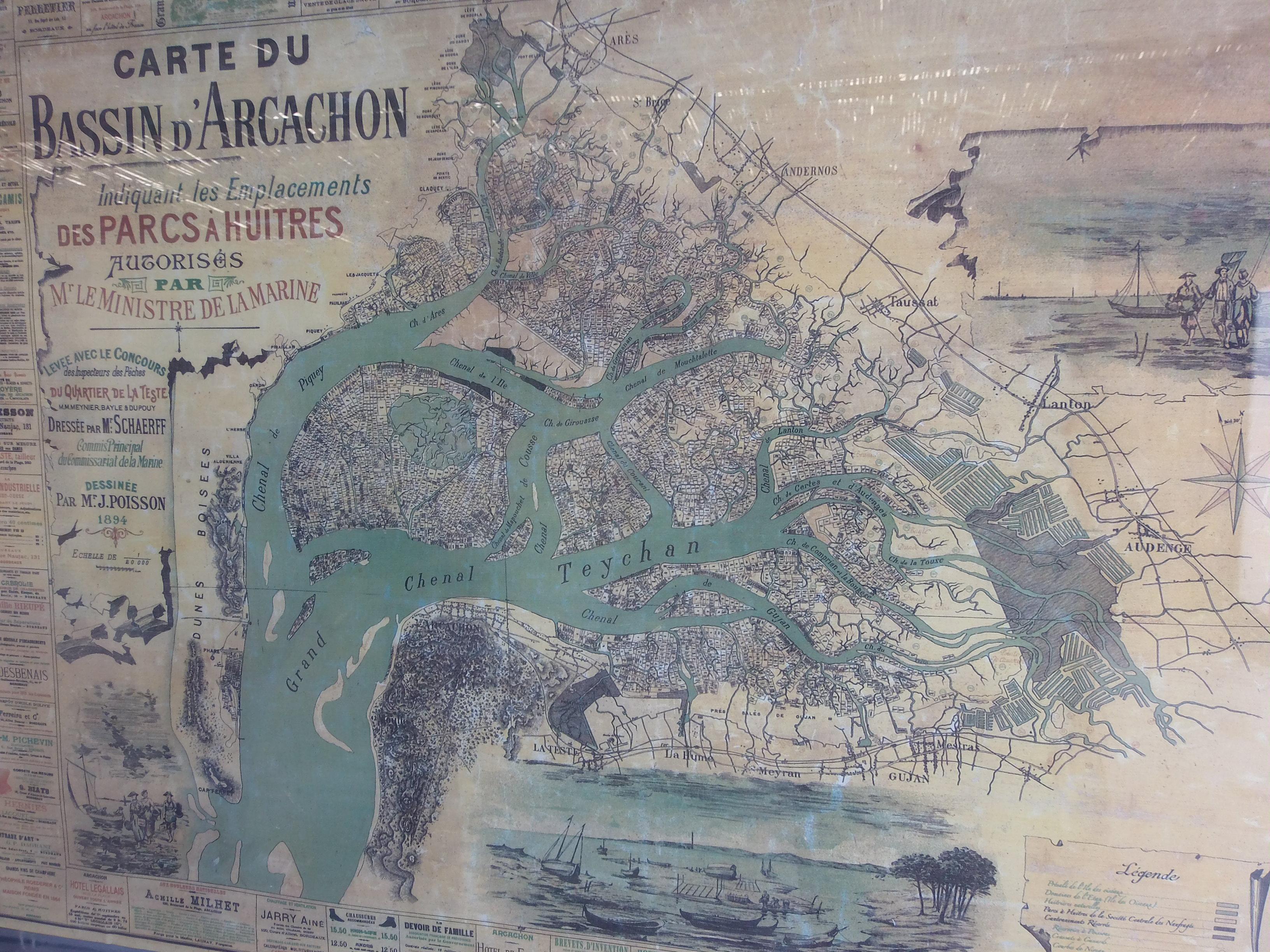bassin d arcachon carte File:Carte du bassin d Arcachon de 1894.   Wikimedia Commons