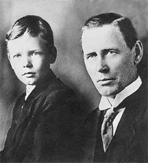 Charles A. Lindbergh and his father, circa 1910