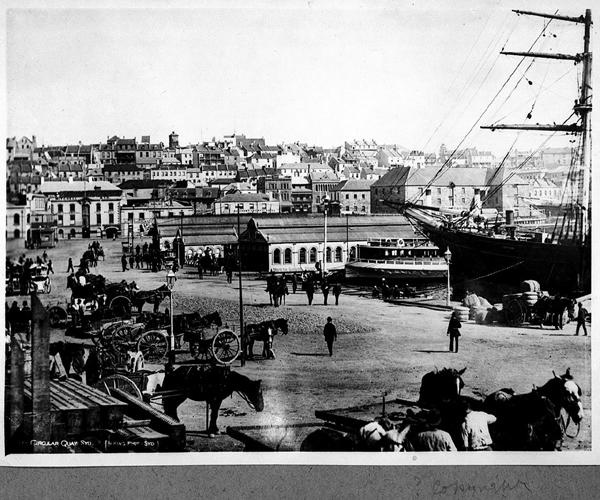 File:Circular Quay, Sydney, with Cutty Sark loading wool (5203714251).jpg