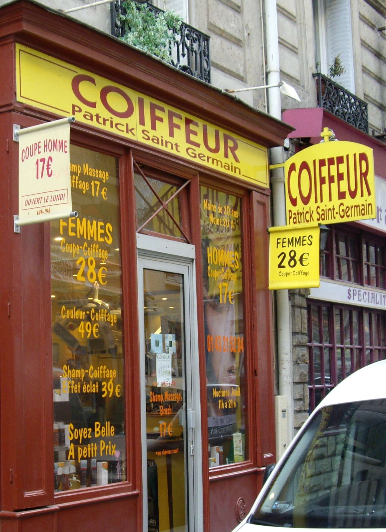 coiffeur paris rue du commerce. Black Bedroom Furniture Sets. Home Design Ideas