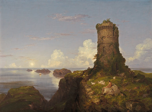 File:Cole, Thomas - Romantic Landscape with Ruined Tower - 1838.jpg