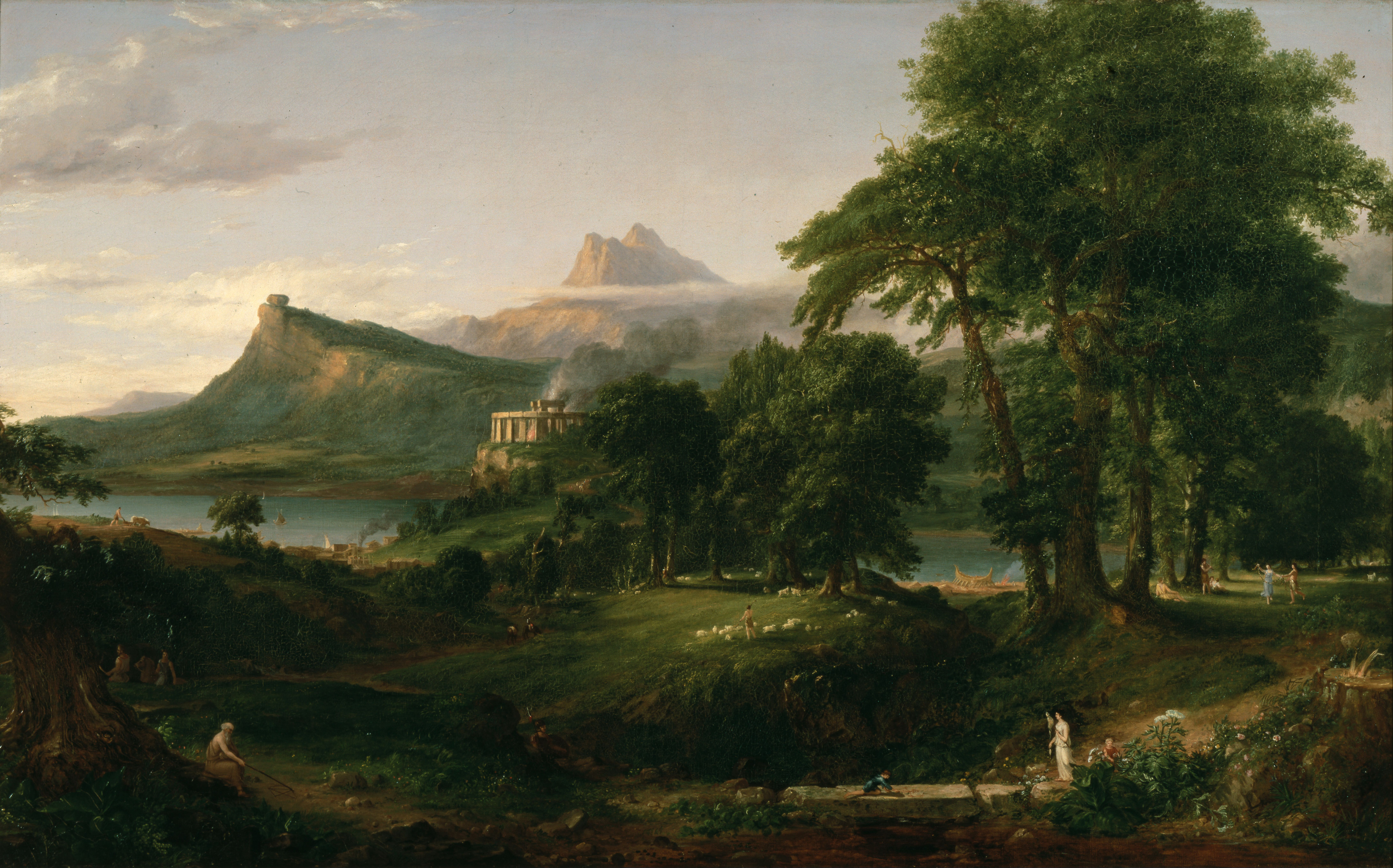 Thomas Cole, The Arcadian or Pastoral State, 1834