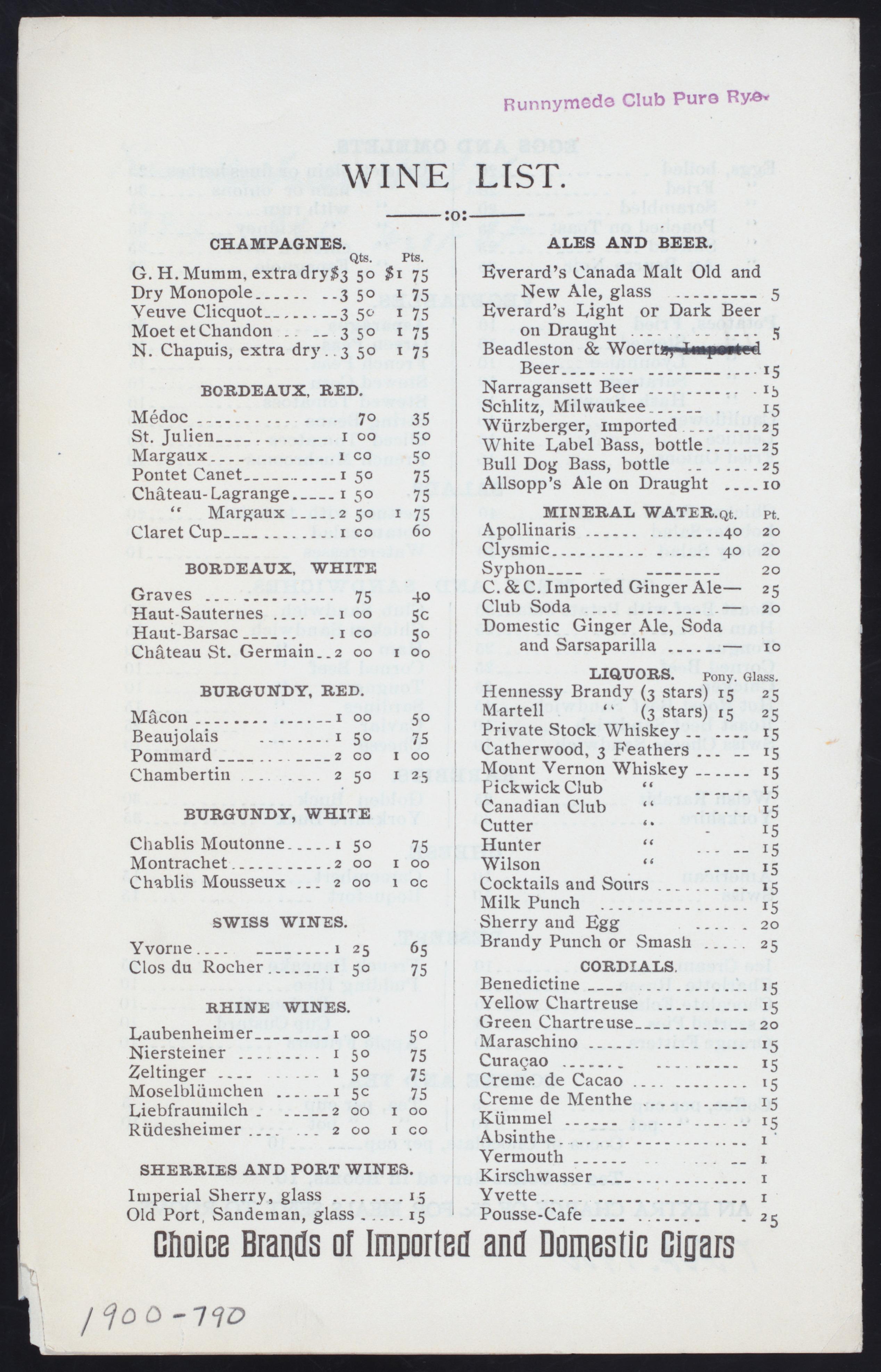 File:DAILY MENU (held by) KNICKERBOCKER HOTEL RESTAURANT (at
