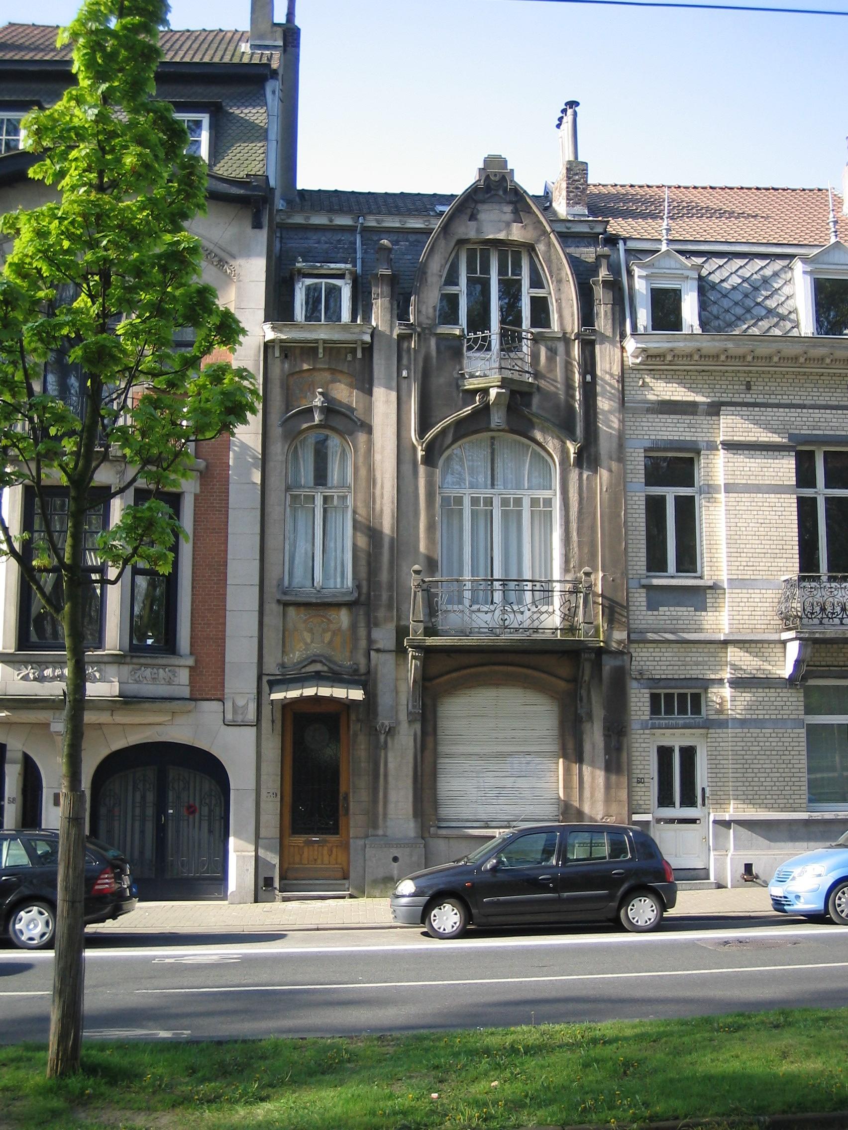 Maison de style art nouveau au 59 avenue du panthéon koekelberg