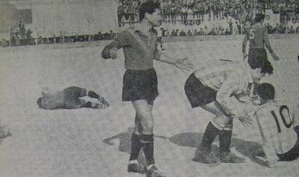Dernier match disputé par le Mouloudia en période coloniale le 11 mars 1956 - Mouloudia Club d'Alger (football)