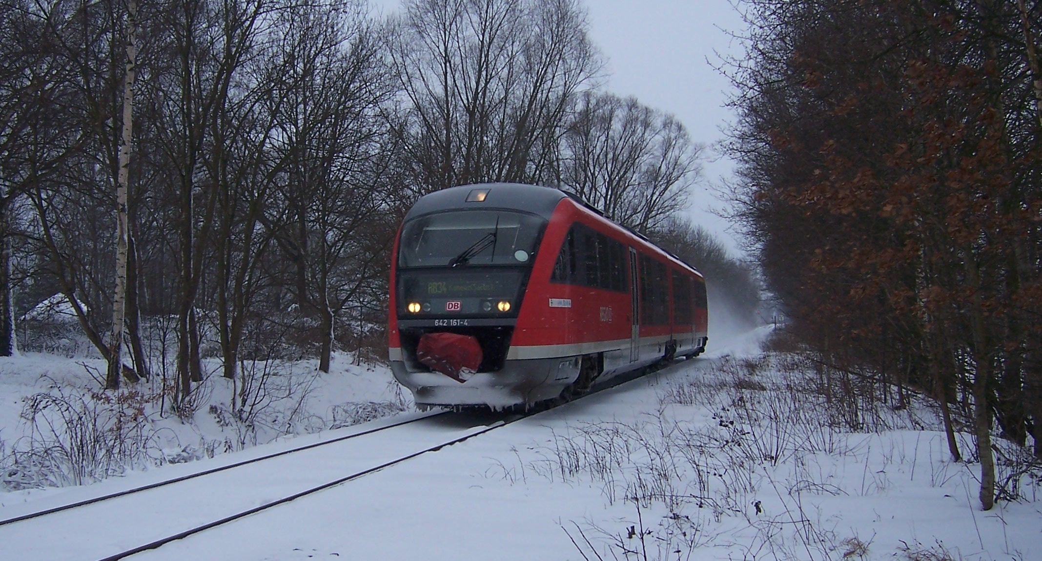 Picture of train in snow