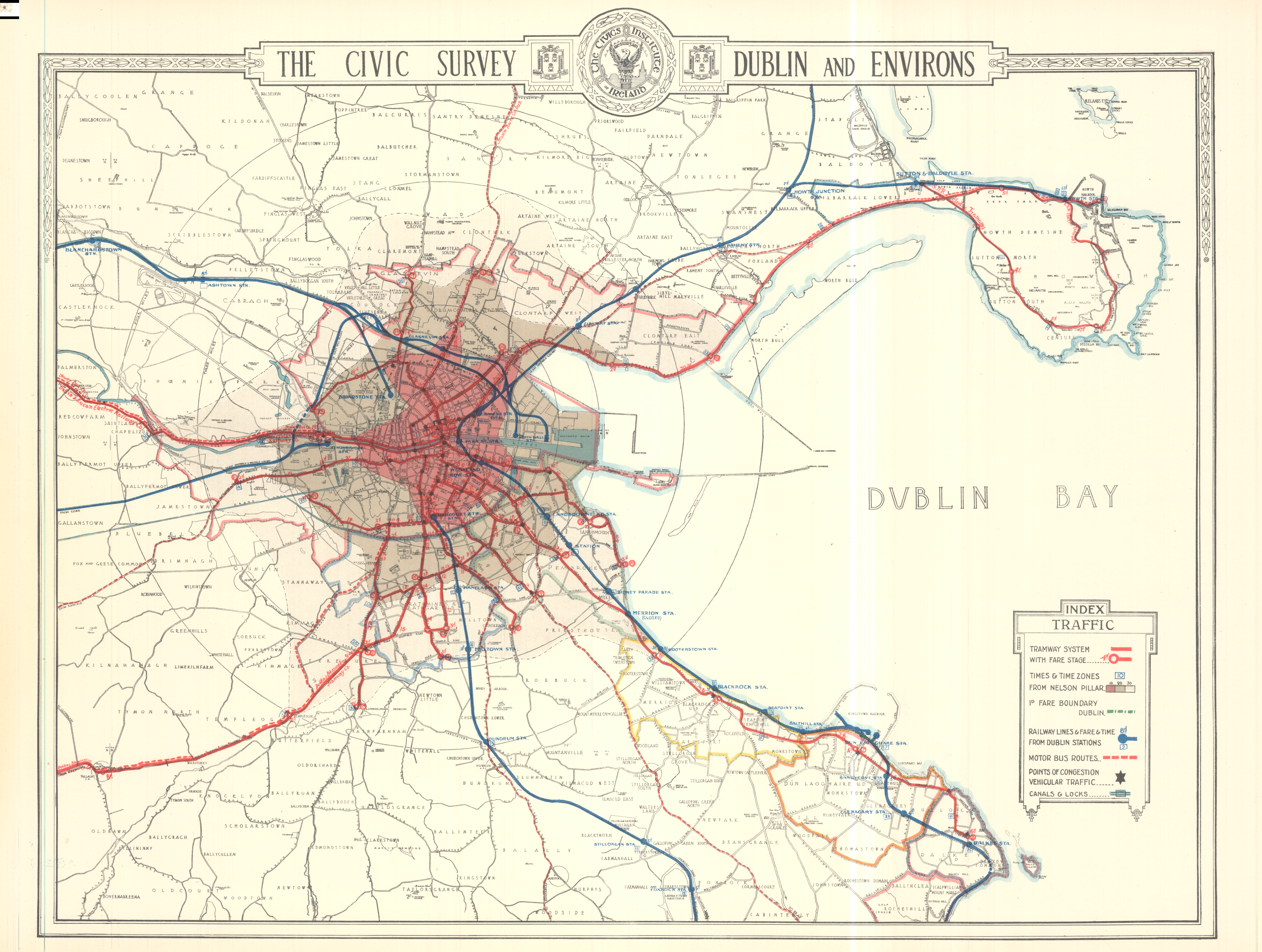 FileDublin Map Suburbs MatureTrams WFaresTimes Trains - Old maps of dublin