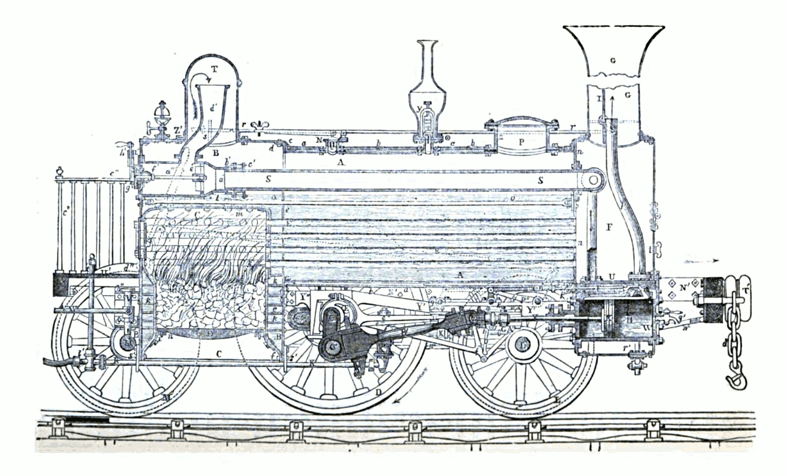 FileEarly steam locomotivepng Wikimedia Commons – Labeled Diagram Of A Steam Engine