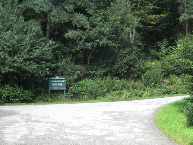 Entrance to Idless Wood - geograph.org.uk - 912705