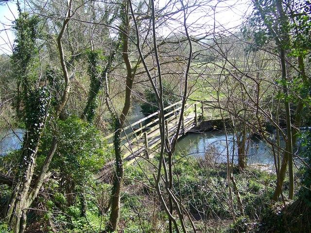 Footbridge, Durnford Mill - geograph.org.uk - 757116