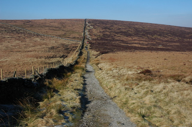 Footpath to Shining Tor - geograph.org.uk - 697140