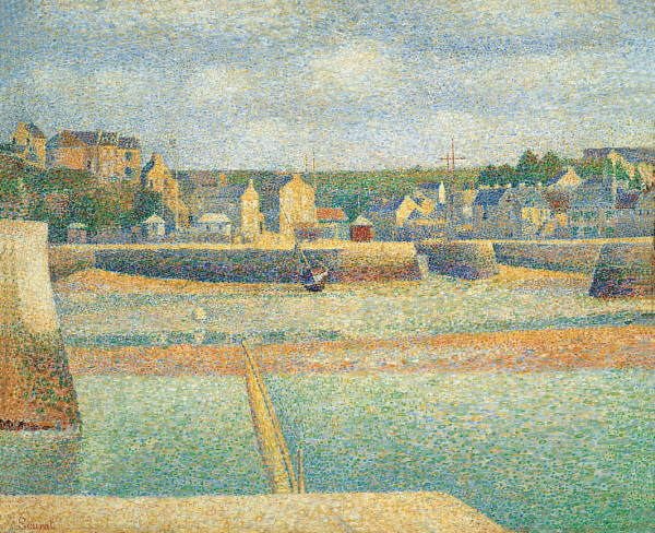 FileGeorges Seurat PortenBessin The Outer Harbor Low Tide - Location port en bessin