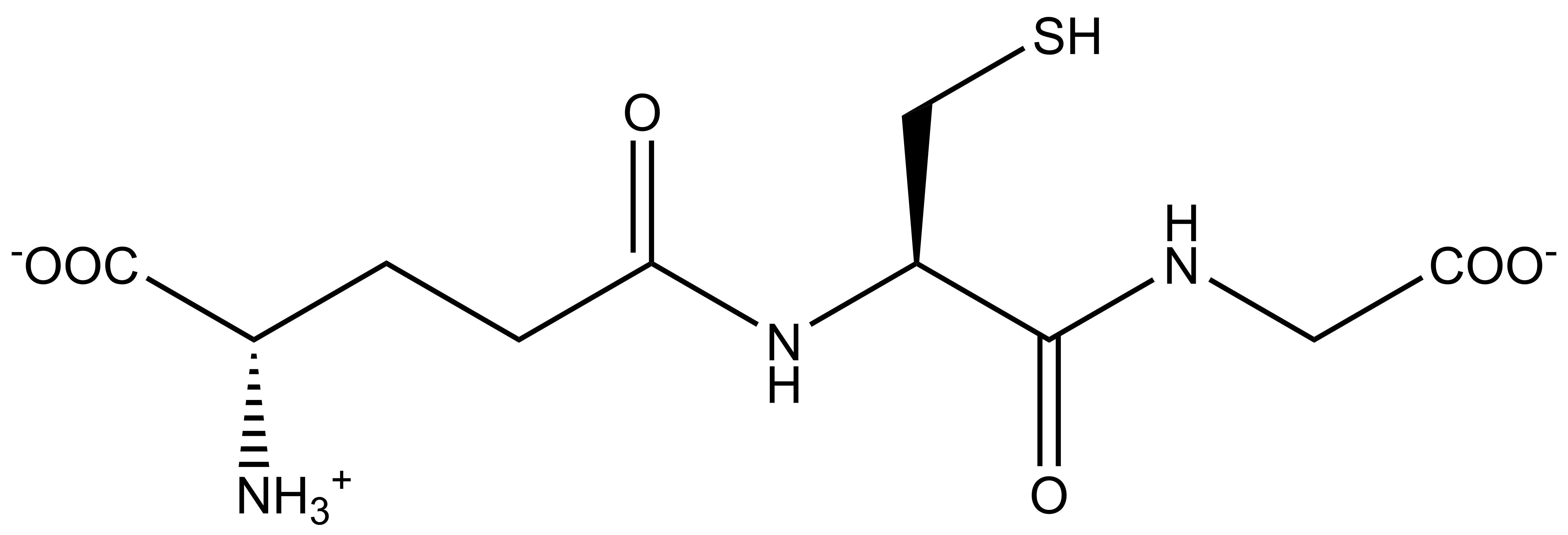 file:glutathione - wikimedia commons, Skeleton