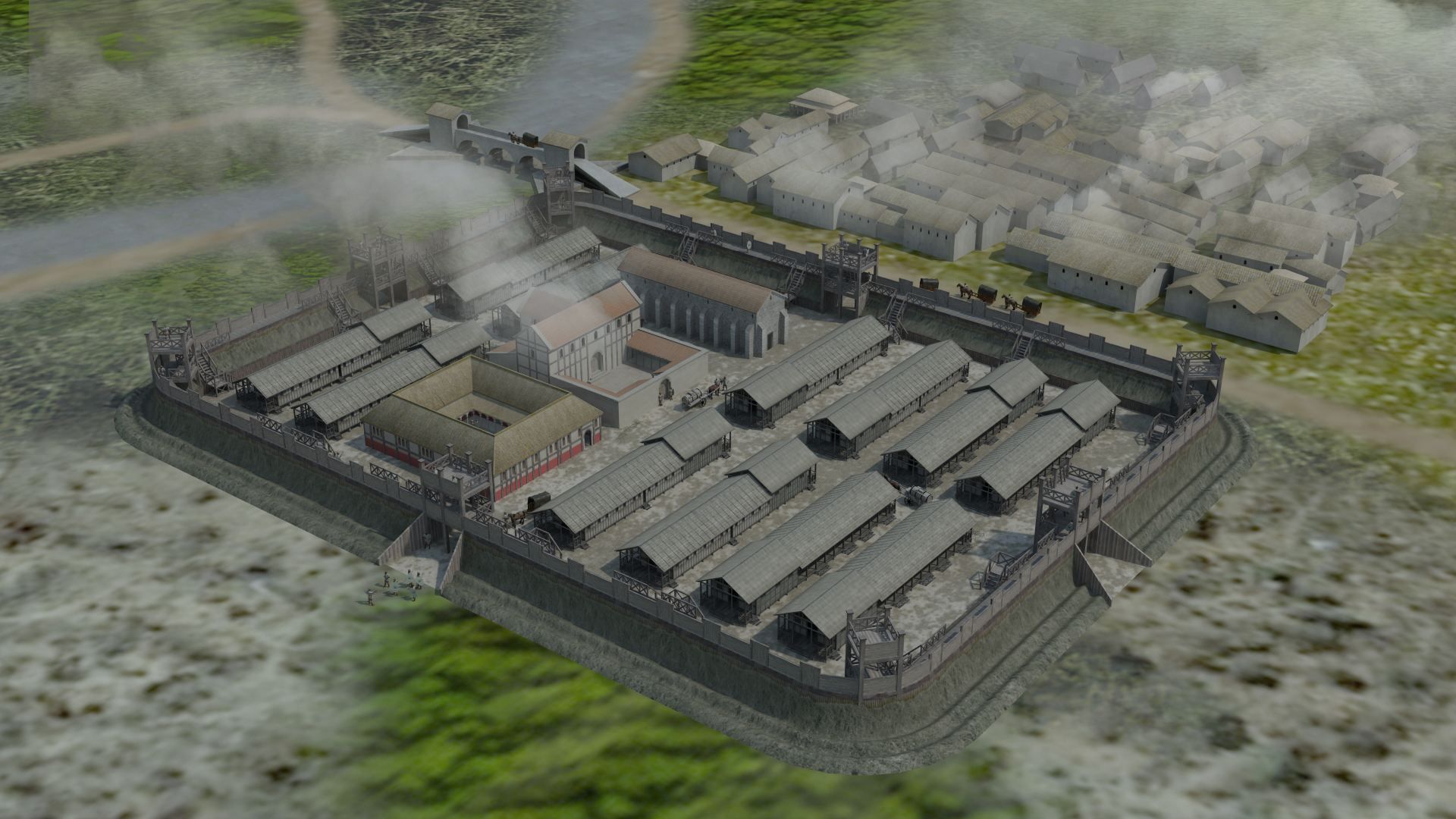 Ilkley roman fort for Old wooden forts