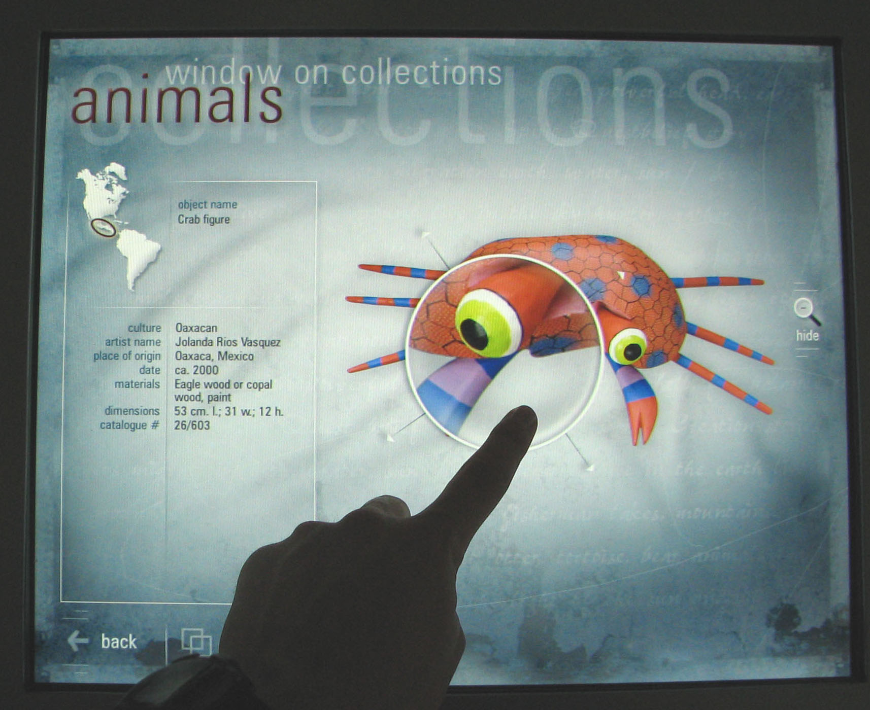 Interactive museum feature