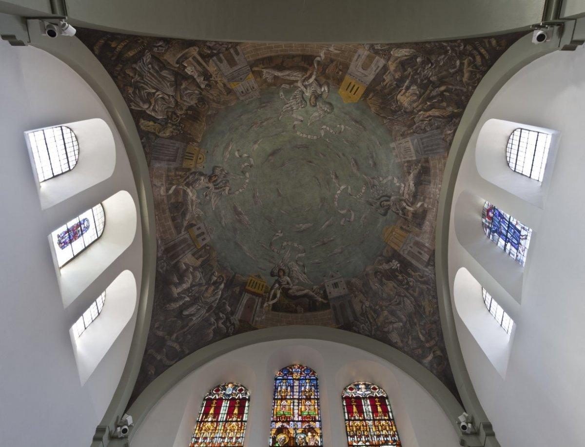 File:Interieur, gewelfschildering in de noordelijke transeptarm - Heerlen -  20535393 - RCE.