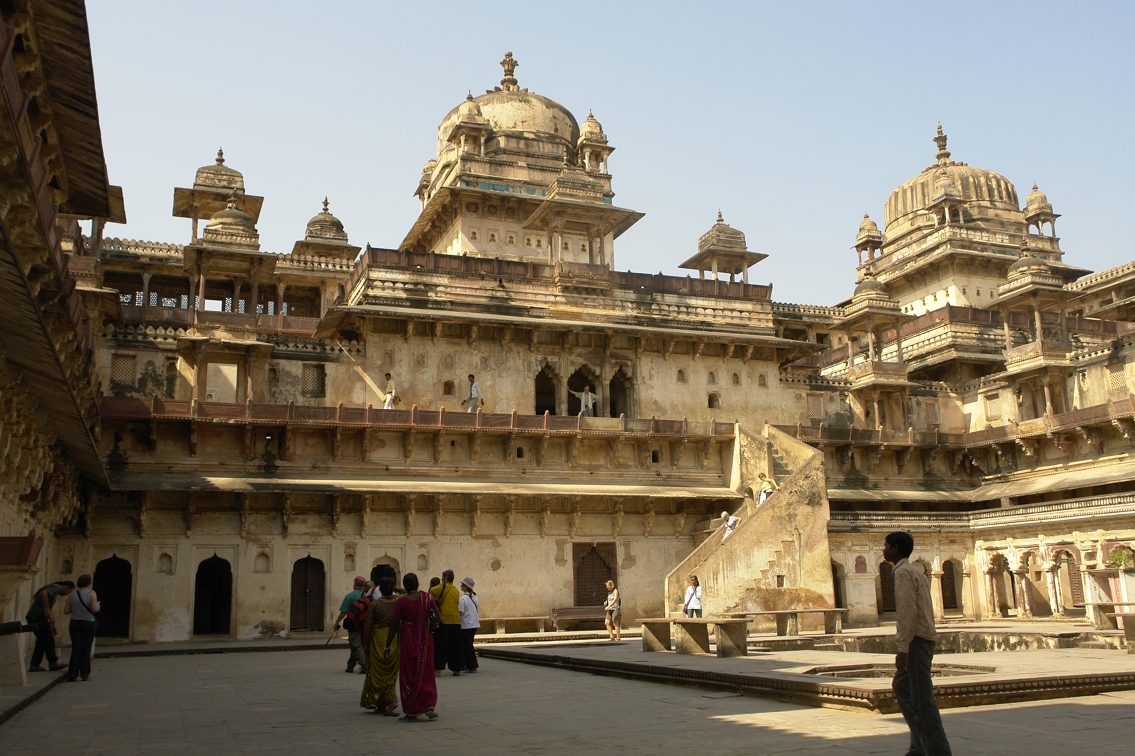 Madhya Pradesh India  City new picture : Jahangir Mahal, Orchha, Madhya Pradesh, India Wikipedia ...