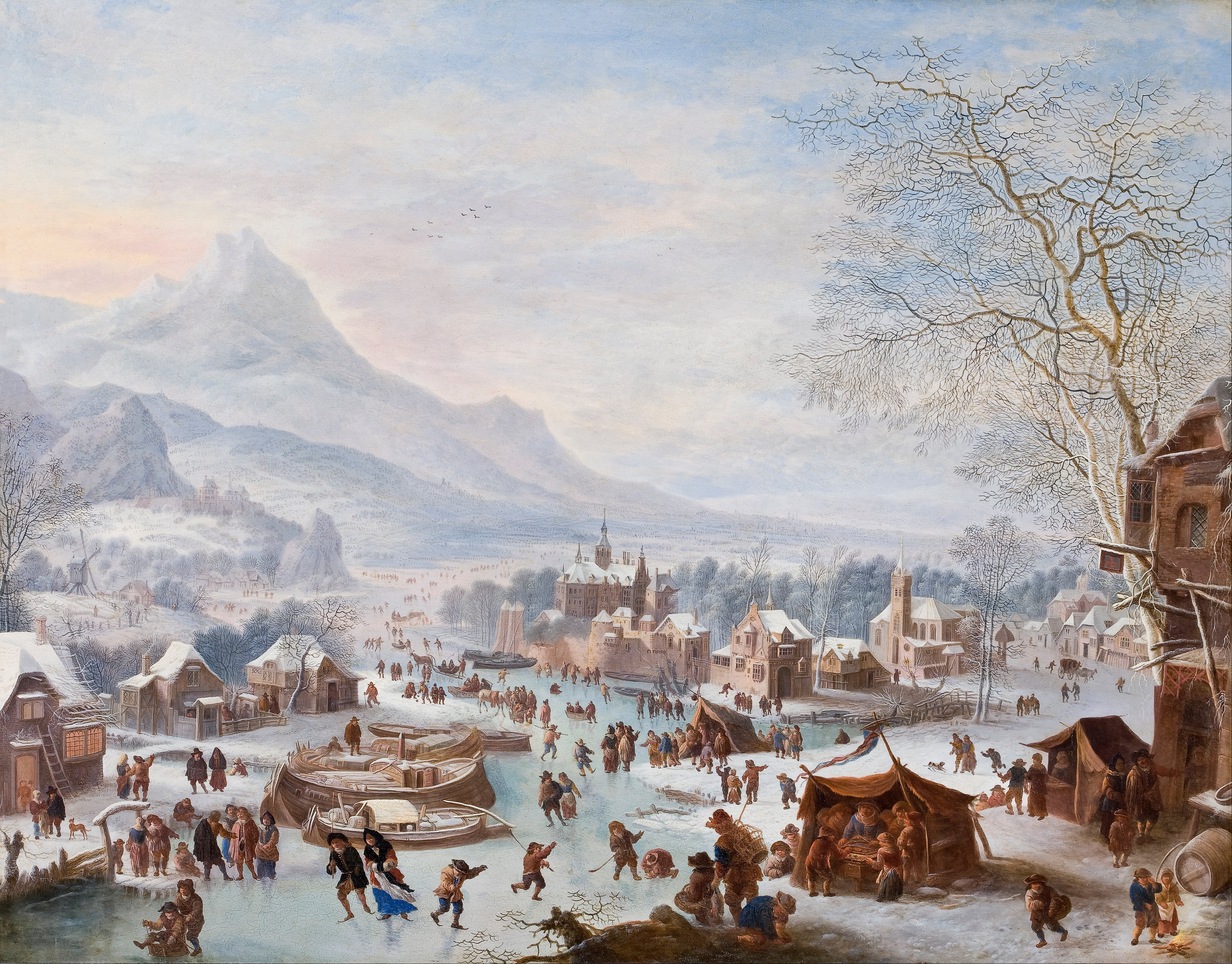 file jan griffier winter scene with skaters google art project