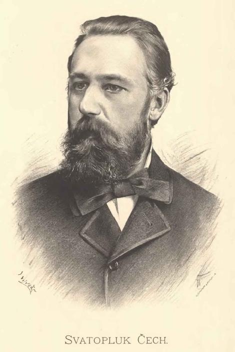 Portrait of Svatopluk Čech by [[Jan Vilímek