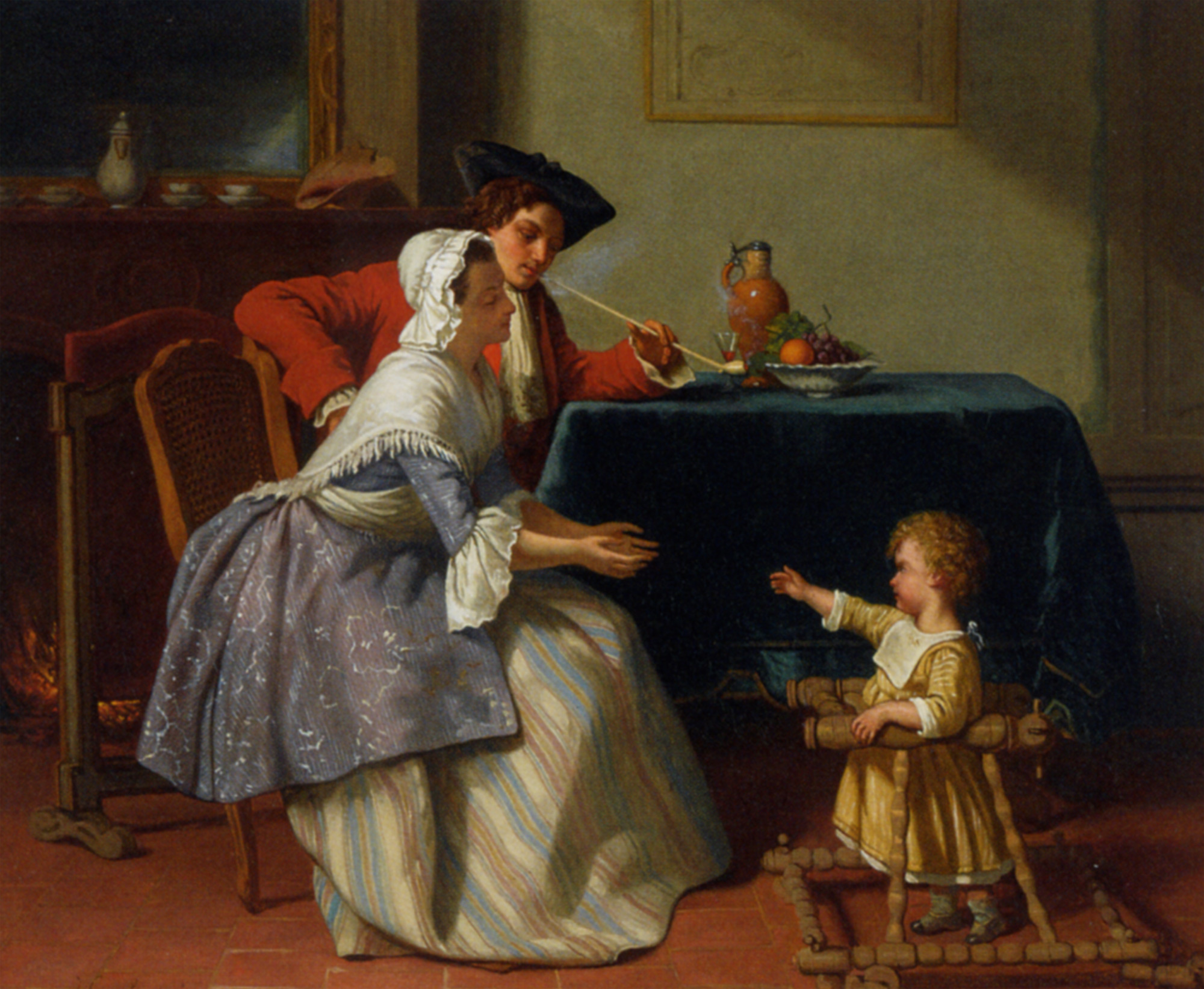 File jean carolus 1855 baby 39 s first steps oil on panel - American history x dinner table scene ...