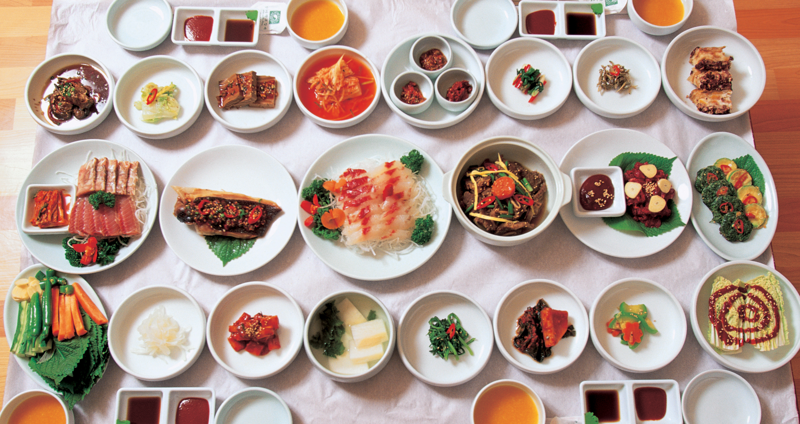 A sample Korean table