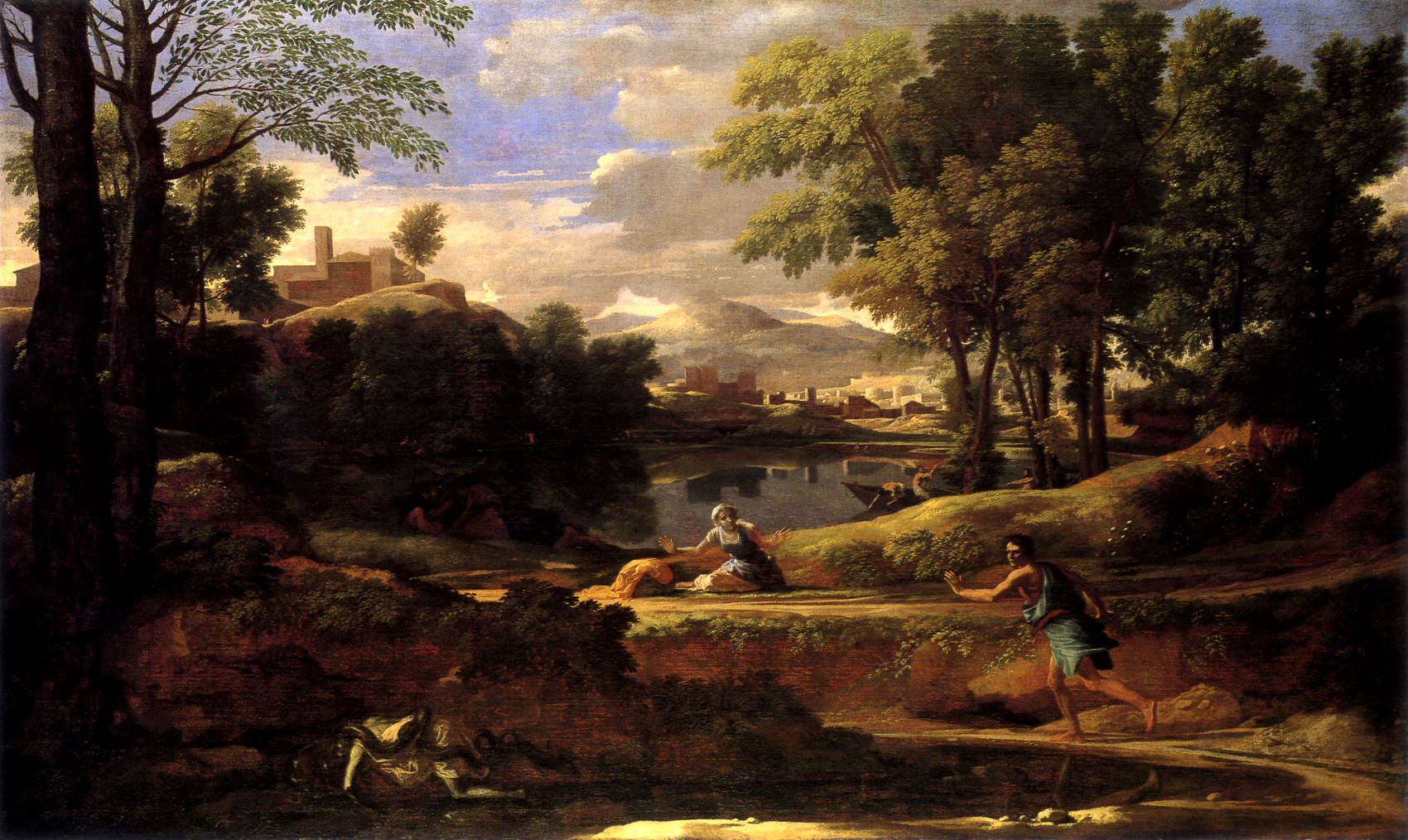 Some LANDSCAPES Landscape With A Man Killed By A Snake