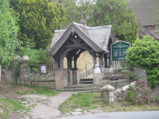Lych gate to All Saints Church at Clive - geograph.org.uk - 864267