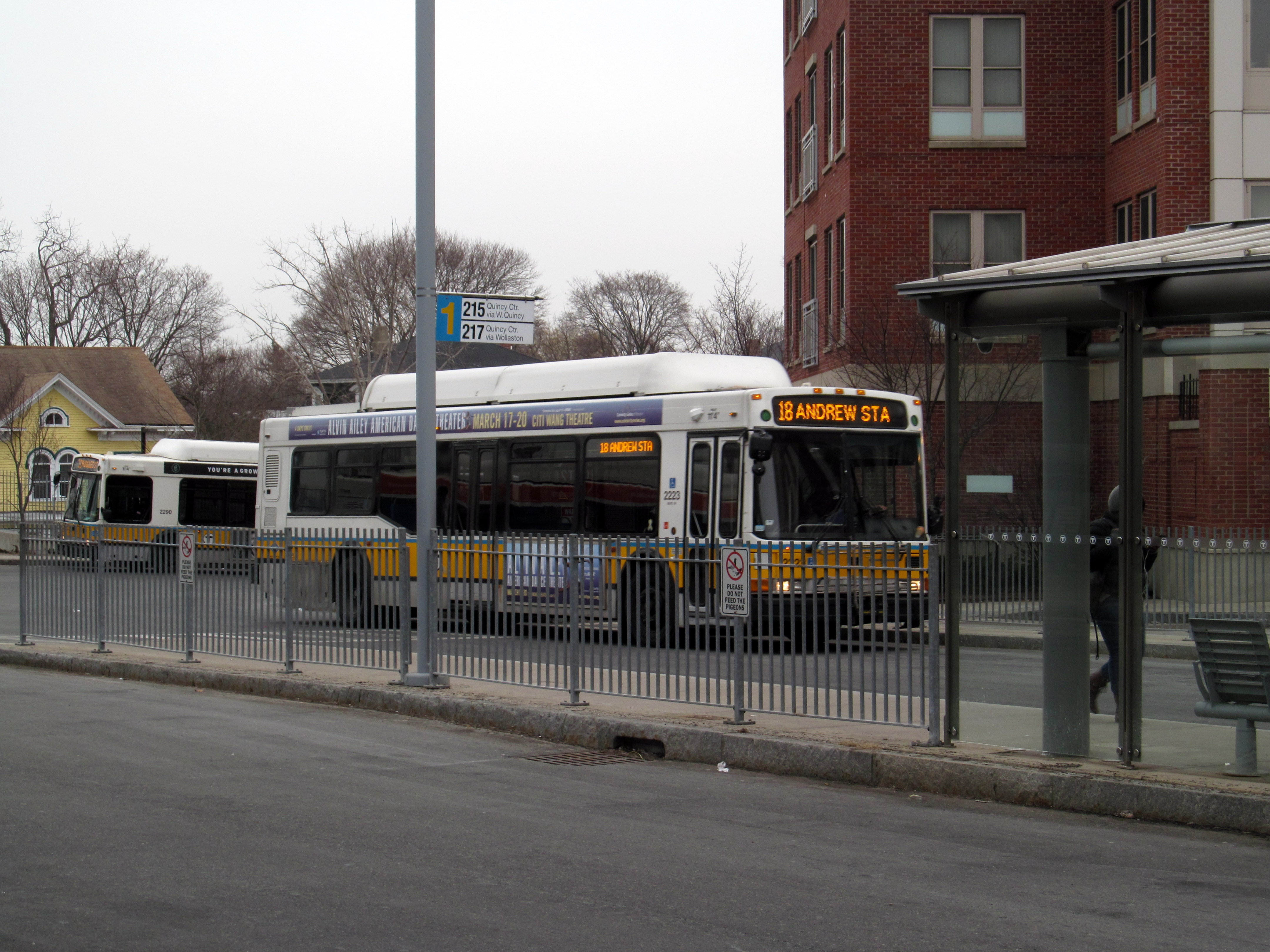 File Mbta Route 18 Bus At Ashmont Station January 2016