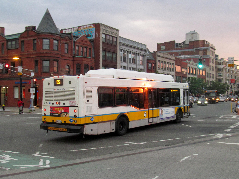 File Mbta Route 55 Bus At Massachusetts Avenue August
