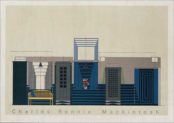 Dessin pour le Willow Tearooms, à Glasgow (1917) par Charles Rennie Mackintosh