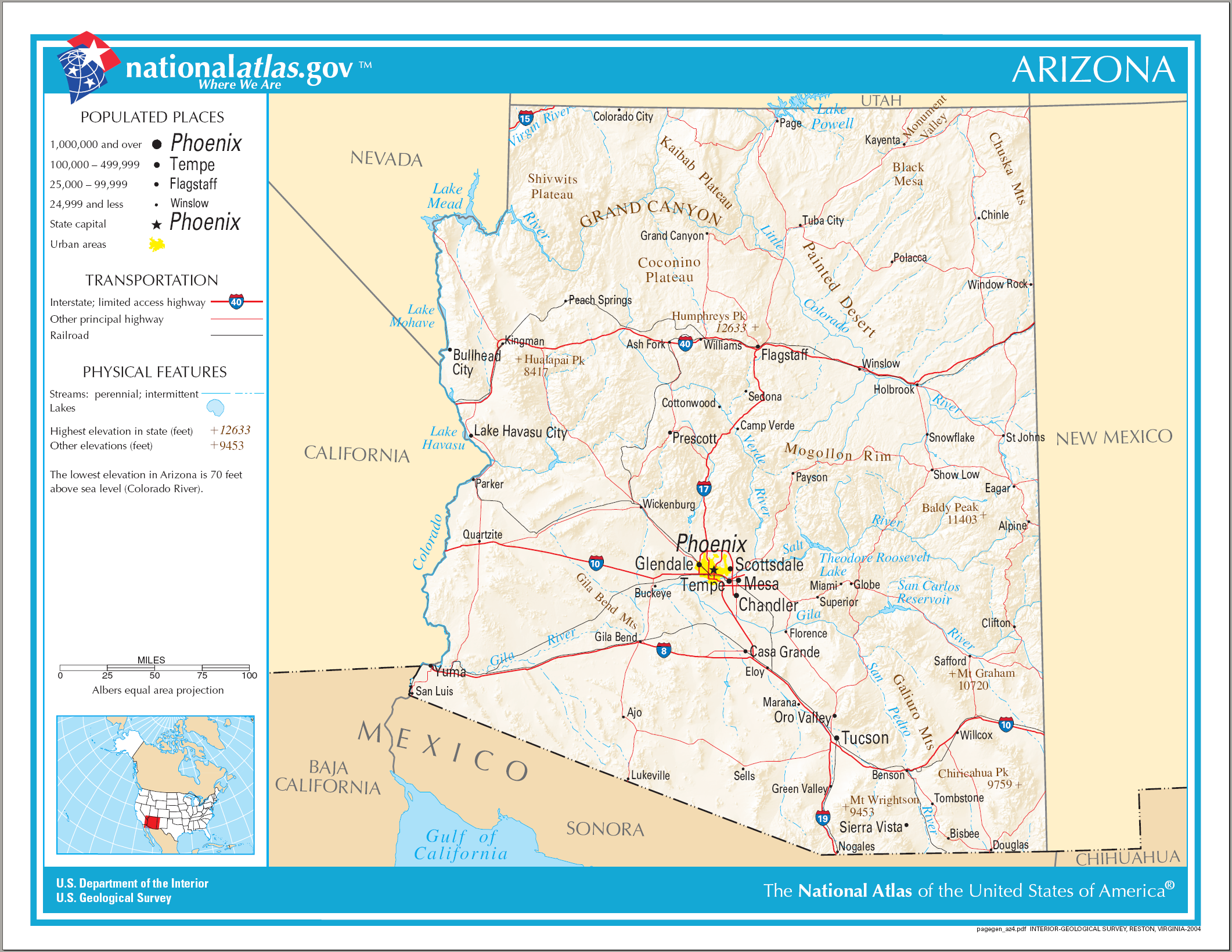 FileMap Of Arizona NApng  Wikimedia Commons