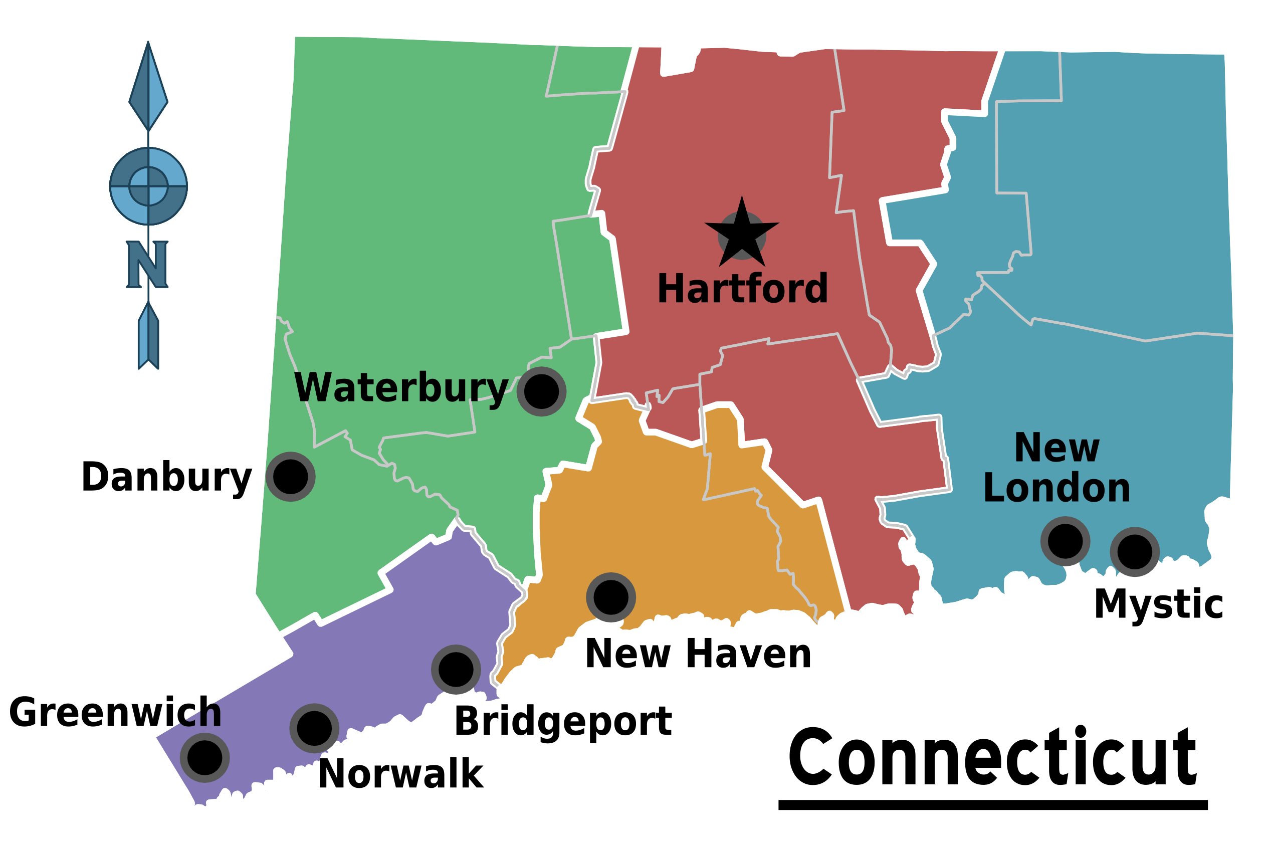 File:Map of Connecticut Regions.png - Wikimedia Commons