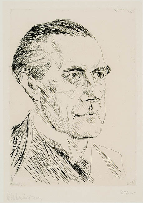 Portrait of Peter Behrens by [[Max Liebermann]]