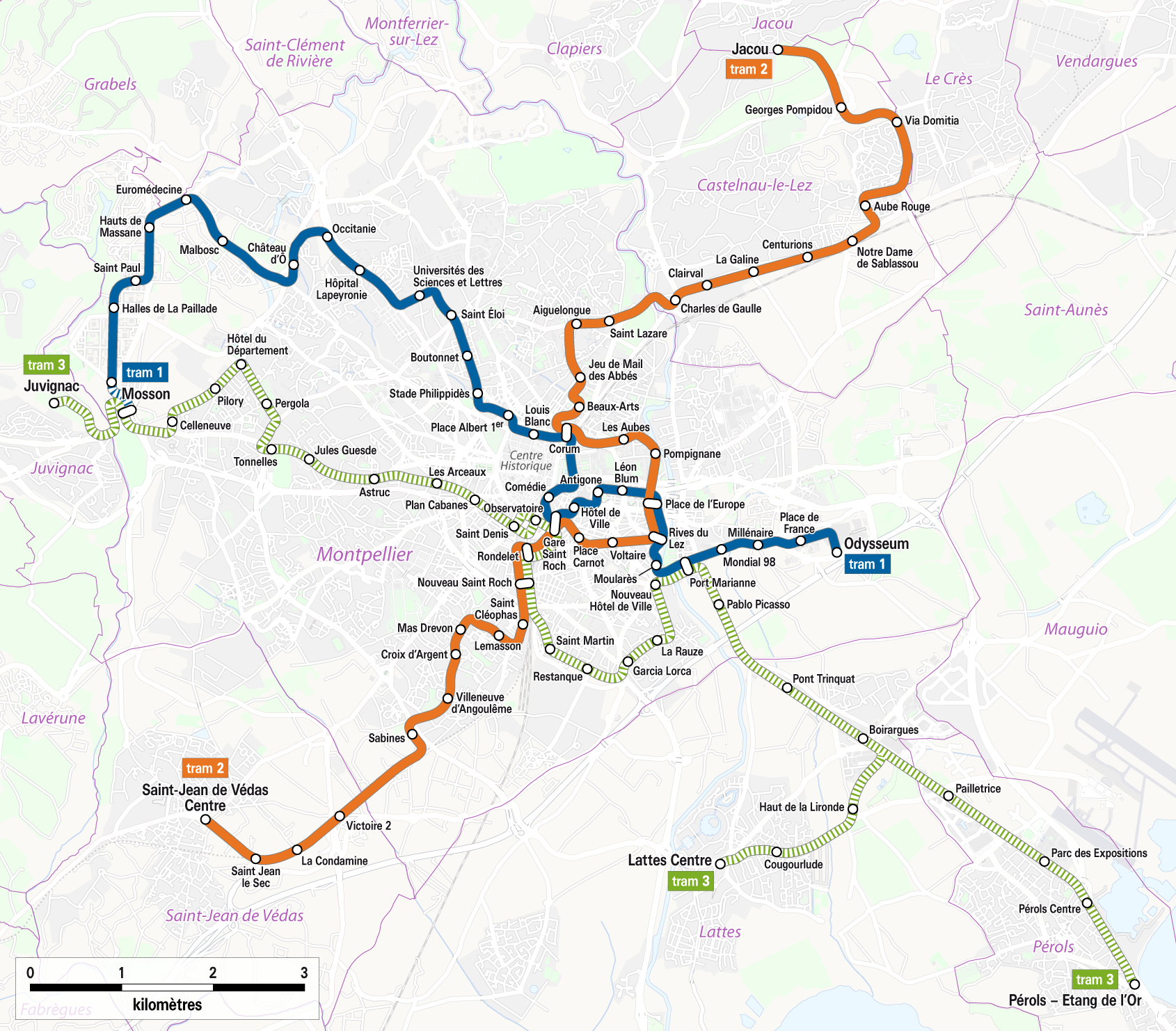 FileMontpellier Tramway network map 2010png Wikimedia Commons