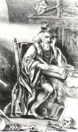 Nicolas Flamel (gravure romantique)