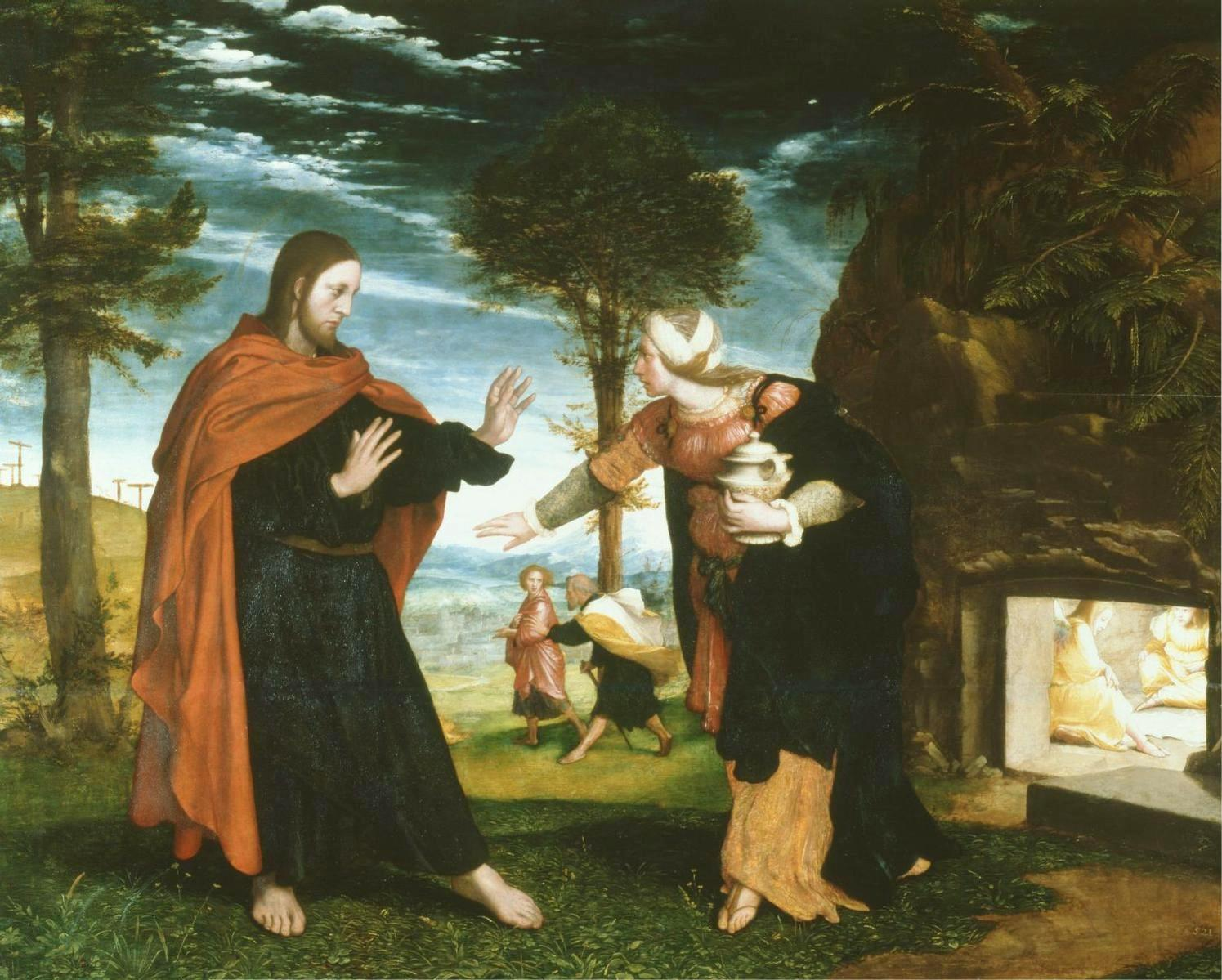 Noli me Tangere. Hans Holbein the Younger, 1524. Wikimedia Commons.
