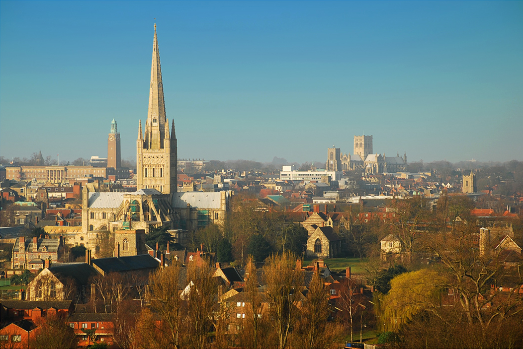 Norwich City Centre Skyline