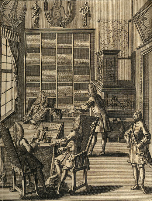 Office, around 1710–1720; from: Julius Bernhard von Rohr image
