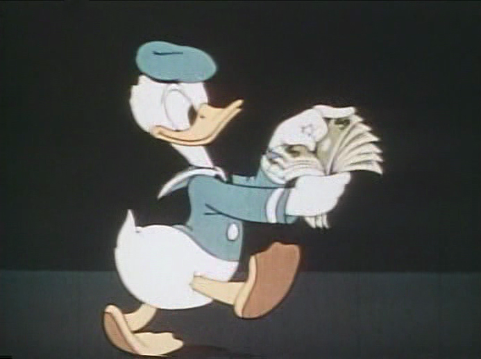 File:Pato Donald en la caricatura 'The Spirit of '43'.png ...